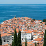 Panoramic Slovenian Coast and Venetian Town Piran